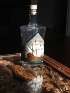 """Bouteille """"Navire ancien"""" 55€"""