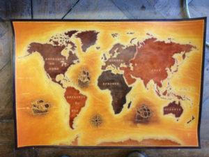 Carte du Monde, 70cm x 50cm, 990€