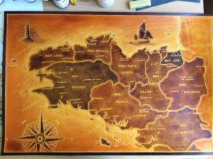 Carte Bretagne n2, 74cm x 50cm, 990€