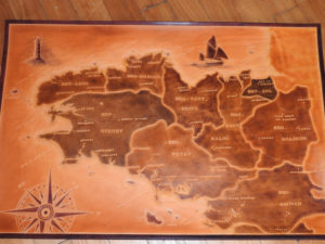 Carte Bretagne, 74cm x 50cm, 990€