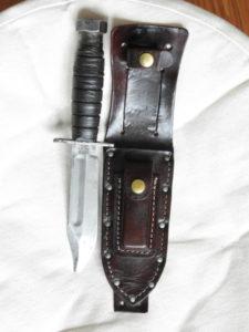 Restauration d'un étui à couteau