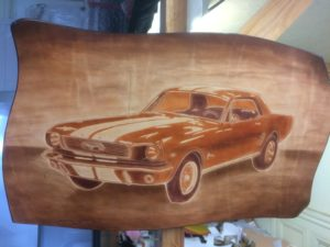 Ford Mustang 1966 50x35cm 170€